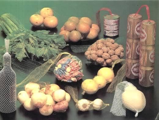 malla tubular para fraccionamiento de frutas verduras